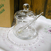 Princess House Vintage in Box Heritage Condiment Jar with Spoon & Lid
