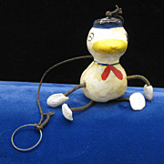 SALE Occupied Japan Duck Spring Toy