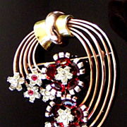 "Pennino Sterling vermeil ""Fantasy"" jewels pin"