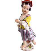 Fine 19th Century Meissen HandPainted Figurine of a Young Girl