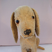 SOLD Pre-War Steiff 'Treff' Hound Dog with FF Button: c.1920's+