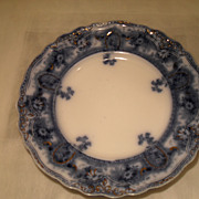 Antique Flow Blue Dinner Plate