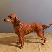 Handsome Irish Setter Hunting Dog Figurine