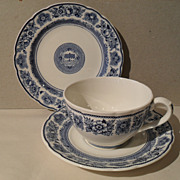Wedgwood Yale Branfords Founders House Teacup/Saucer Trio