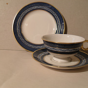 Mid Century Haviland Mosaic Teacup, Saucer and Plate
