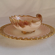 Antique Majolica Waechtersbach Figural Shell Fish Sauce Dish