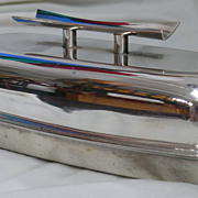 SOLD Mid Century Sterling Butter Dish by Towel