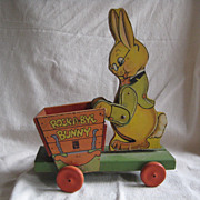 Vintage Fisher Price ~ ROCK-A-BYE BUNNY ~  Pull Toy