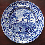 Historical Staffordshire ~ City Hall New York ~ Plate