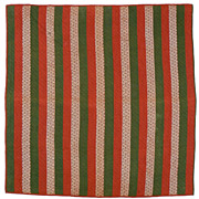 Late 1800's Traditional Strip Quilt from Pennsylvania.
