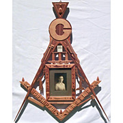 Masonic fraternal folk art work: Inlay, carvings, whimsey work.