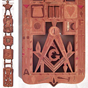 Detailed Marquetry fraternal Whimsey:  Masonic, Shriner, Eastern Star, Odd Fellows