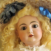 "26"" Doll by Kestner 146 sleep brown eyes, stamped body 1892 ca"