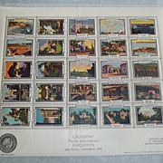 1935 California Pacific Int'l Expo San Diego, CA Commemorative  Stamp Sheet