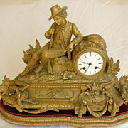 French Gilt-Bronze Mantel Clock, owned by Johnny Cash & June Carter Cash
