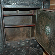 Rare French 17th Century Iron Clad 3 Key Strong Box