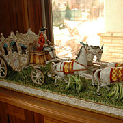 19th Century Hand-Painted Porcelain Carriage