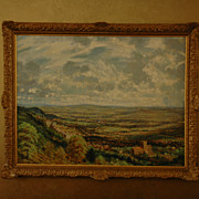 """Looking Over Malvern"" Oil on Canvass, 1947, by David Birch (English)"