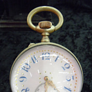 French crystal ball clock with bronze eagle stand