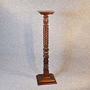 Antique Torchere Stand Tripod Plant Lamp Base English Victorian Mahogany c1850