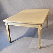 Antique Large Kitchen Dining Table 4 - 6 Seater Painted Finish c1800