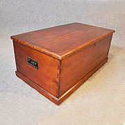 Antique Coffee Table Blanket Box Chest Shipping Trunk English Victorian c1870