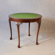 Antique Quality Demi Lune Folding Tea Games Sofa Card Table Mahogany c1900