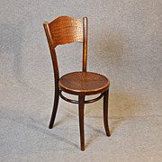 Thonet Original Art Deco Bentwood Kitchen Dining Cafe Chair Embossed Seat c1930