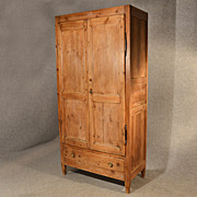 Wardrobe Antique Pine French Quality Vintage Cupboard Double c1900