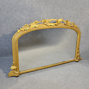 Antique Mirror Overmantle Wall Regency English Ornate Gilt Looking Glass c1830