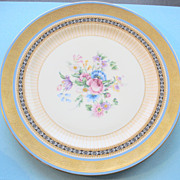 Charles Ahrenfeldt Cabinet Plate with Gold Encrusted Band & Hand Painted Flowers