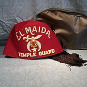 Vintage Shriner Fez El Maida Temple Guard