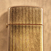 1968 Slim Zippo Pinstripe Lighter - No Monogram