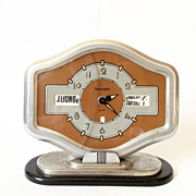 RARE  Art Deco Vintage 1950s Year  clock/Dalumatic/clock / Retro clock /Mid century