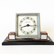 1960s  Art Deco Alarm clock/Made in Czechoslovakia/Chronotechna/Alarm clock / Retro alarm cloc