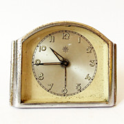 1950s German Art Deco Alarm clock/Made in Germany/Junghans/Alarm clock / Retro alarm clock ...