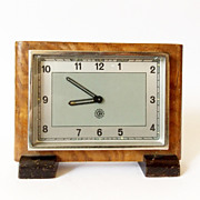 Wood  Framed 1950s Vintage Alarm clock/Made in Czechoslovakia /Chronotechna/Alarm clock / Retr