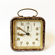 1940s art deco  Vintage carriage  Alarm clock/Alarm clock / Retro alarm clock /Mid century