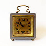 1930s art deco  Vintage carriage  Alarm clock/Alarm clock / Retro alarm clock /Mid century