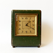RARE 1930s art deco Desk Alarm clock/Made in Slovakia/JGEHA/Alarm clock / Retro alarm ...