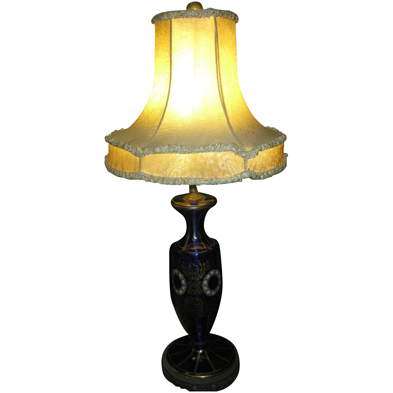 vintage cobalt blue glass table lamp from savannahgalleries on ruby. Black Bedroom Furniture Sets. Home Design Ideas