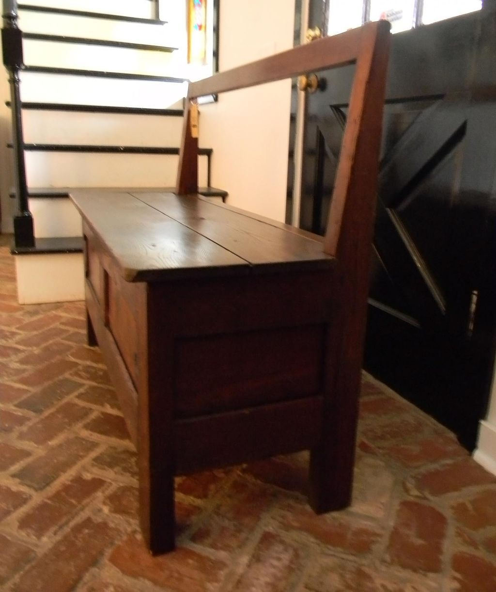 Antique Storage Bench From Bretony Region Of France Early