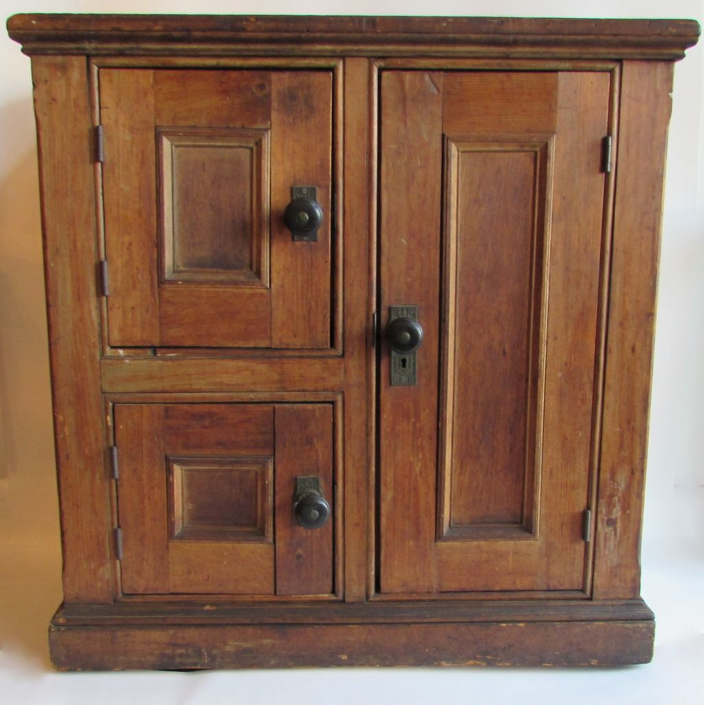 Antique Oak Three Door Ice Chest or Ice Box from ...