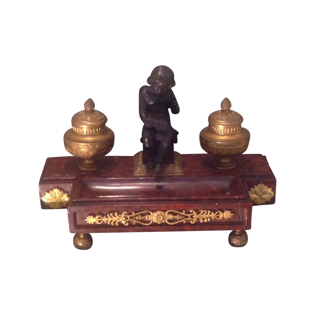 19th Cent French Desk Unit With Bronze From Edwinskinner
