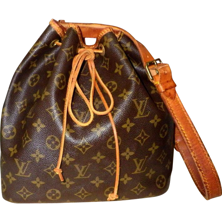 Louis Vuitton Petit Noe Bag Monogram Pre Owned Authentic