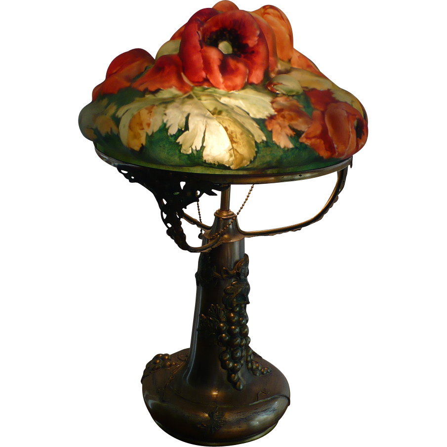 Pairpoint Poppy Lamp From Antiquecollectiblelamps On Ruby Lane