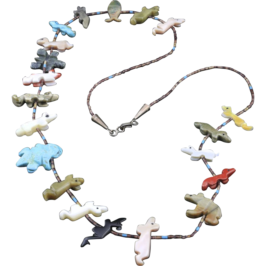 Zuni Fetish Necklaces 19