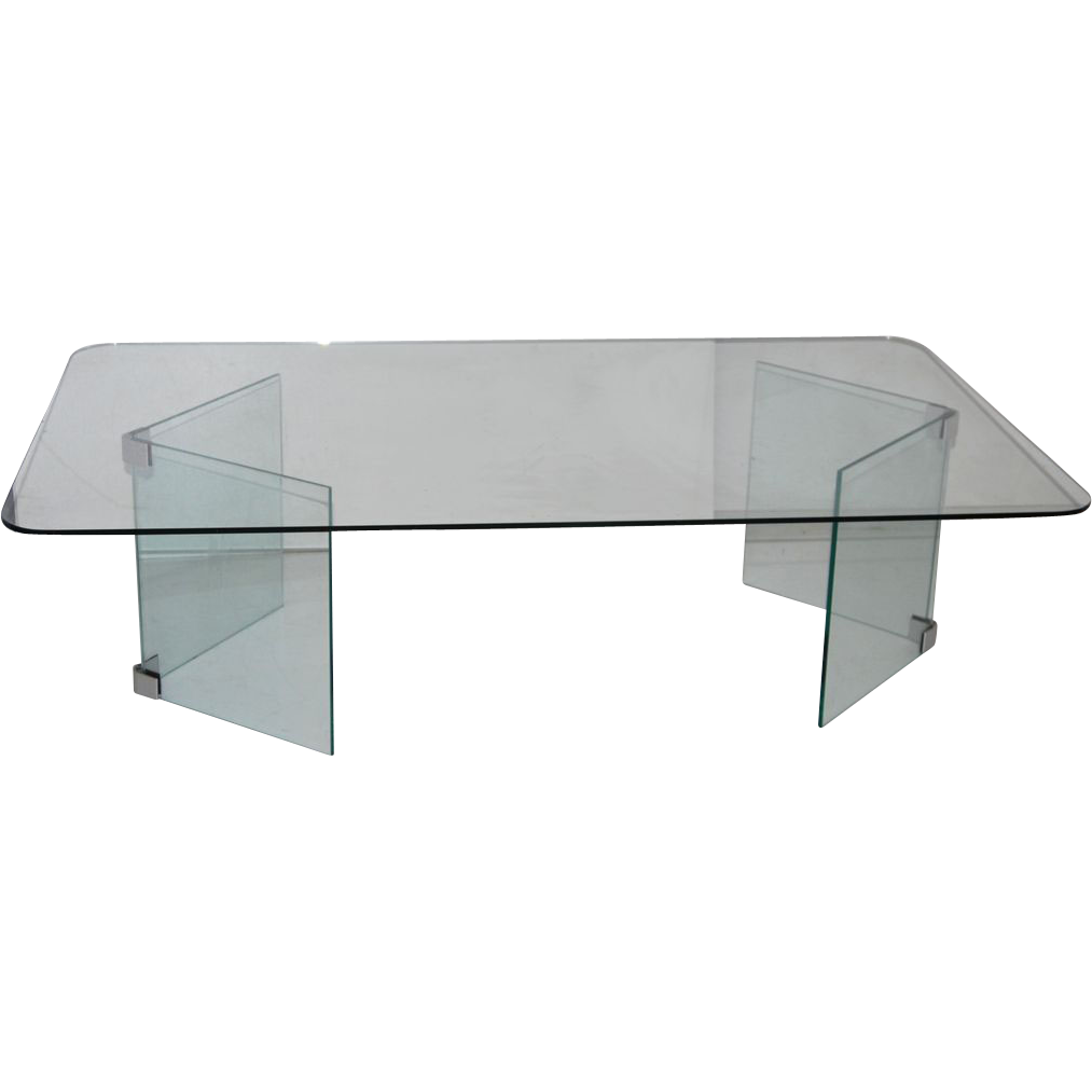 mid century modern glass coffee table hollywood regency
