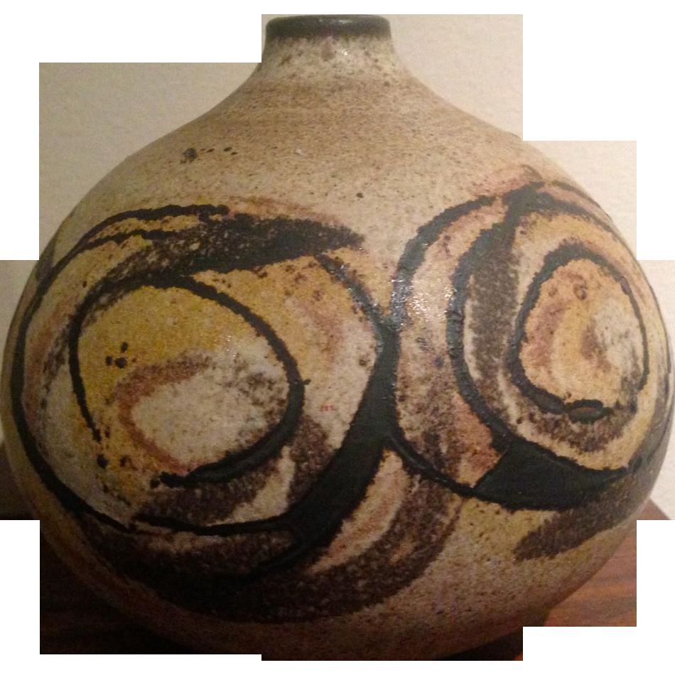 Mid Century Modern Clyde Burt Studio Pottery Vase From