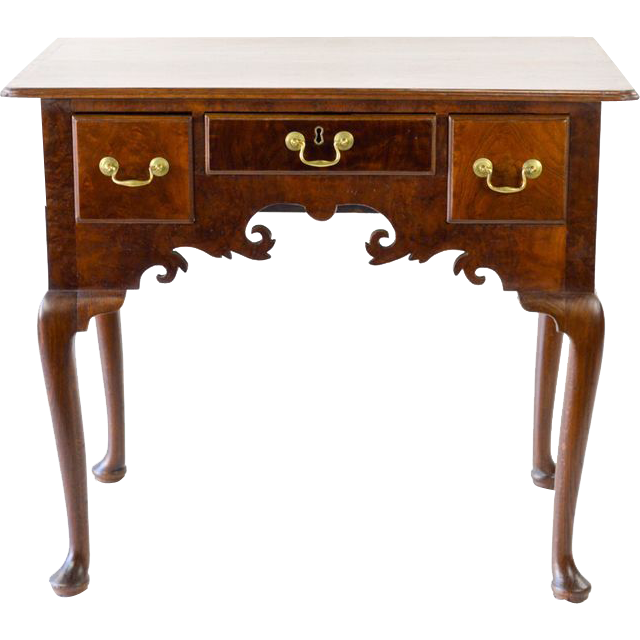 ... Burled Mahogany Small Dressing Table from walnutandwest on Ruby Lane